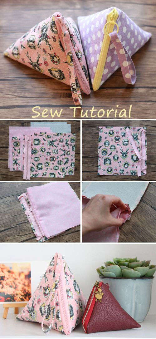 How to Sew a Pyramid Pouch