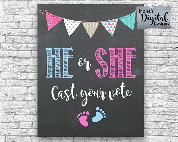 Baby Shower Gender Reveal Banner Gold Glitter First Birthday Party decoha