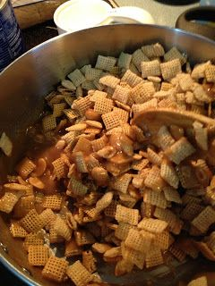 This is the best use of Chex Mix EVER! They call it Christmas Crack and boy is it ever...!