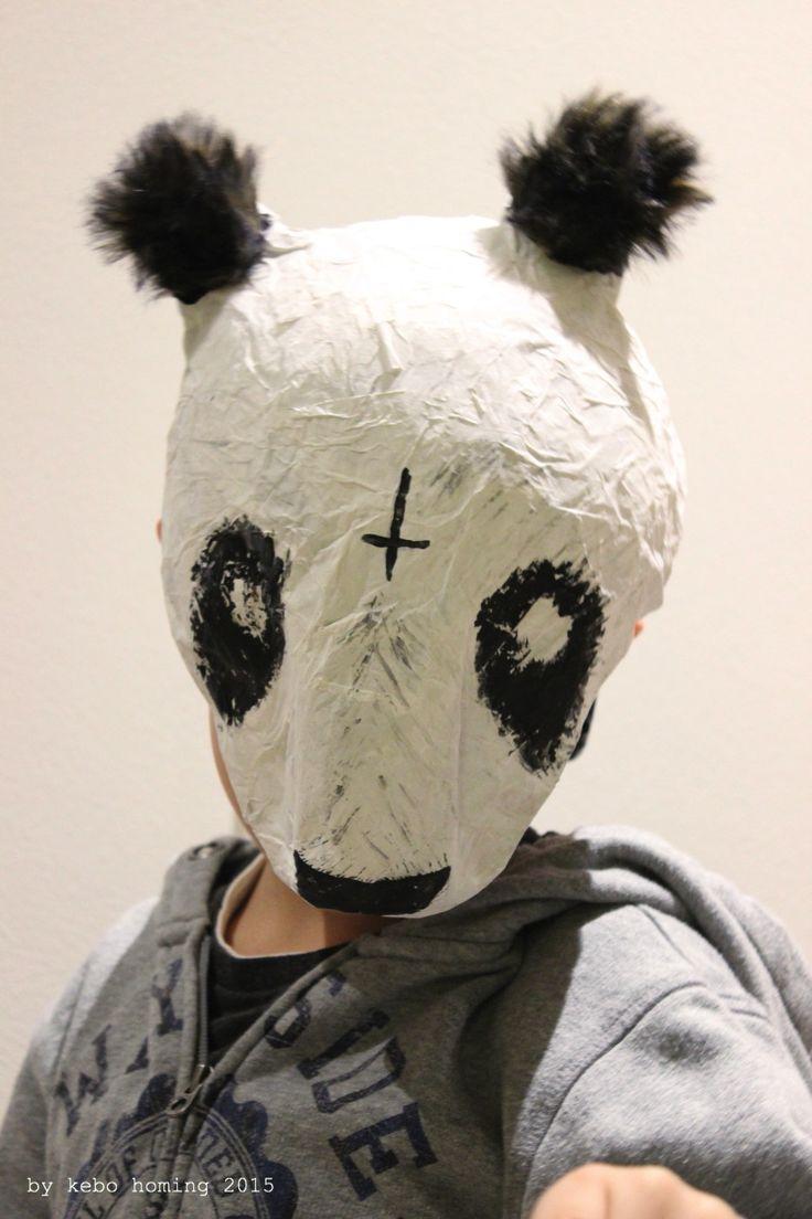 Der Rapper mit der Pandamaske.... Cro Maske aus Pappmaché für Fasching #DIY #Fasching #Karneval #Cro