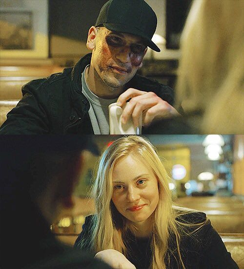 Karen Page and Frank Castle -Daredevil THE WAY THEY LOOK AT EACH OTHER. -I will allow myself one of these and that is all...