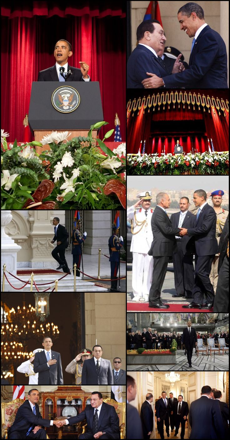 #Egyptian #Foreign #Minister #AhmedAbul-Gheit welcomes U.S. #44thPresident #BarackObama at the airport in #Cairo #Egypt June 4, 2009. U.S. President Barack Obama arrived Thursday morning in Cairo, where he held talks with his Egyptian counterpart Hosni Mubarak and deliver a speech to the Muslim world in Cairo University.