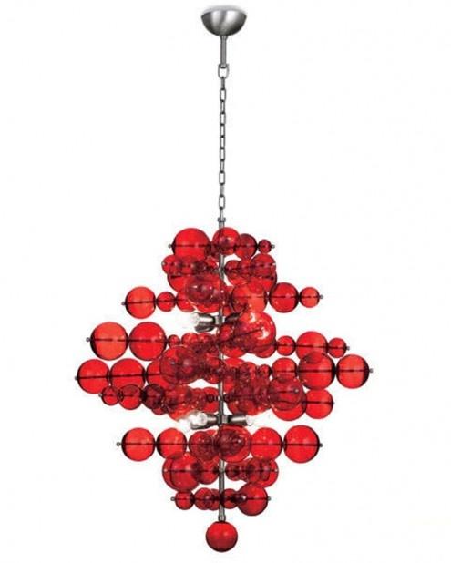 Red lamp fixture #SilkDegreesHOME