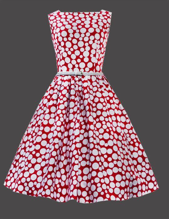 Red and White Polka Dot Vintage Dress