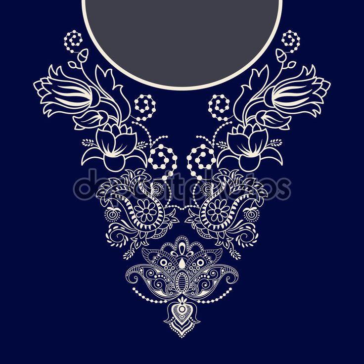 Descargar - Diseño vectorial para las camisas de cuello, blusas — Ilustración de Stock #110568578
