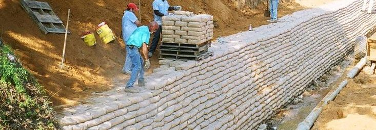 Concrete Sack Retaining Wall Industrial Products