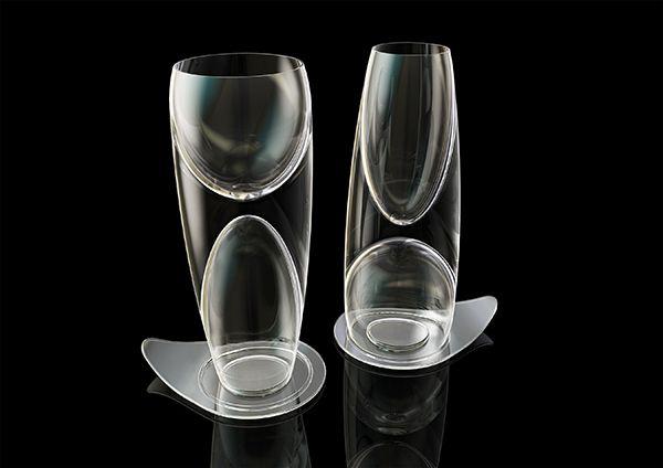 Doublet - Wine Glass by Stefan Burlacu