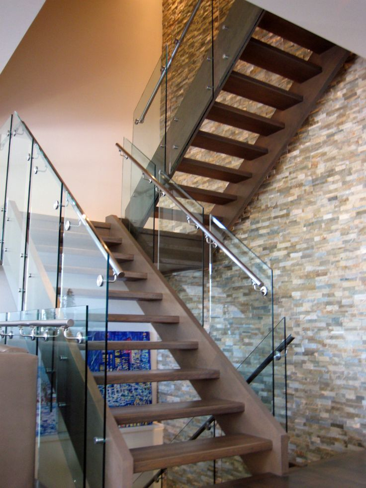 46 Best Glass Staircase Railings Images On Pinterest