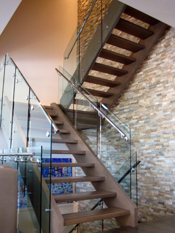 Frameless Railing Glass On Standoff Hardware | House Of Mirrors Calgary