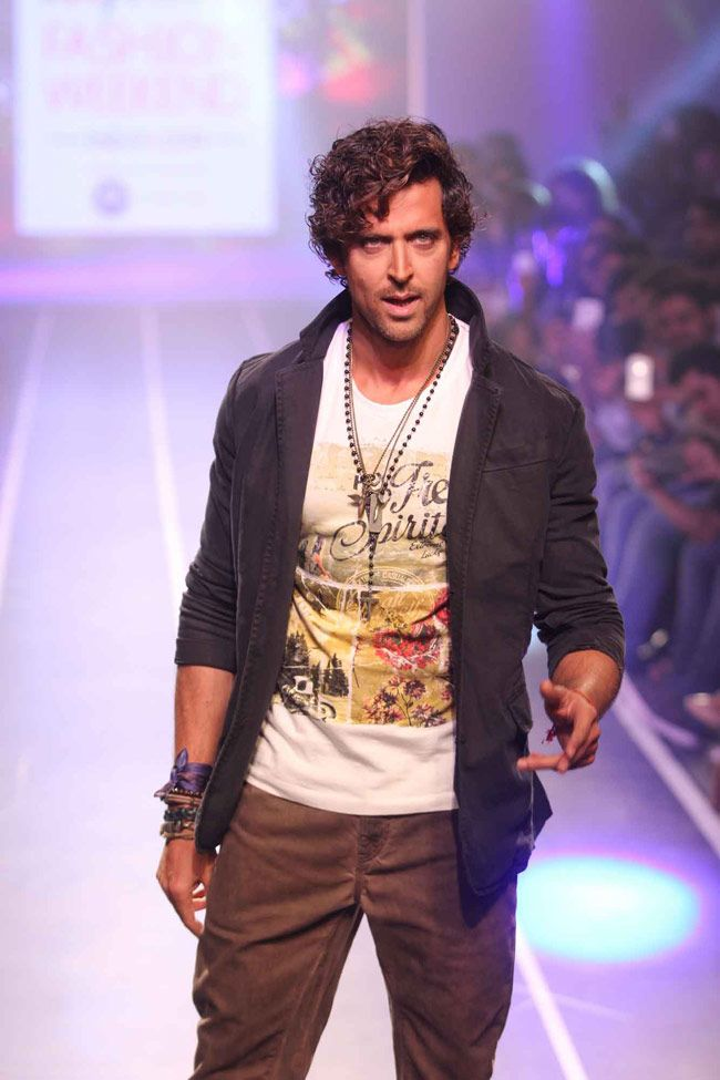 Hrithik Roshan at the Myntra Fashion Weekend. #Bollywood #Fashion #Style #Handsome #MFWKND