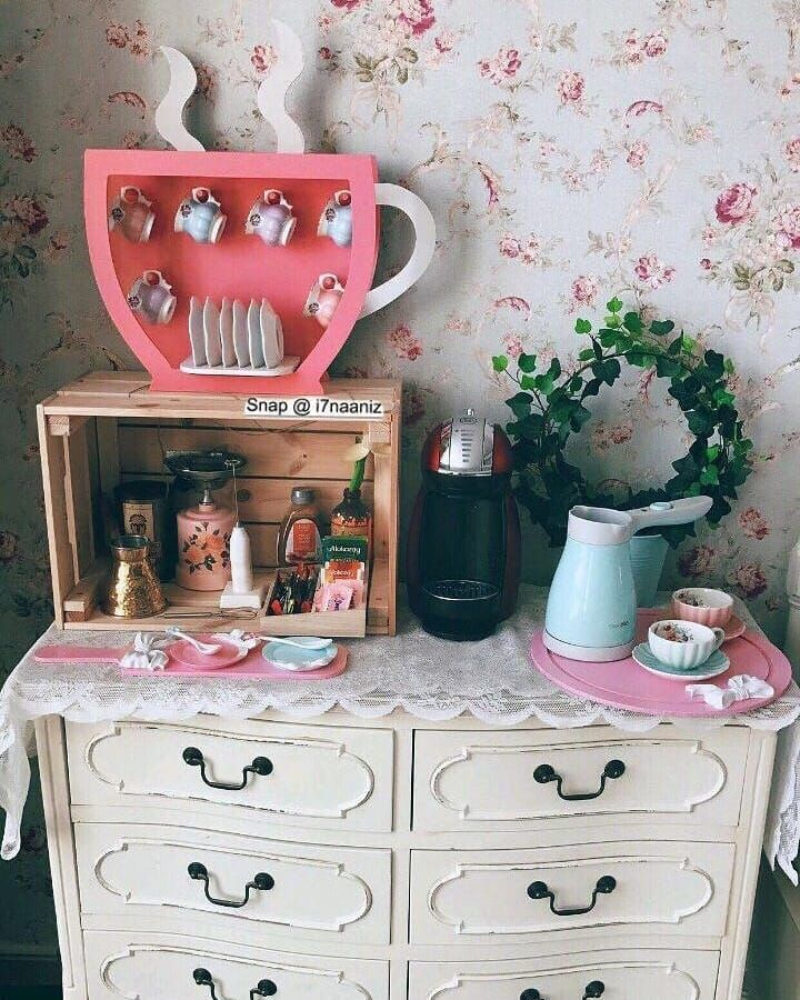 Pin By Mino S Life On ركن قهوه Dressing Room Decor Coffee Decor Coffee Bar Home