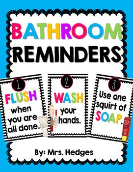 Bathroom Use Signs 92 best managing bathroom trips images on pinterest | classroom