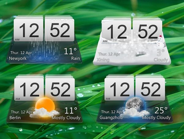 LG Optimus Like Desktop Weather Widget is brilliant piece of realistic technical art work that is really useful and at the same time eye candy too.