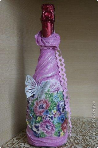 Бутылочки в чулочках - Декор