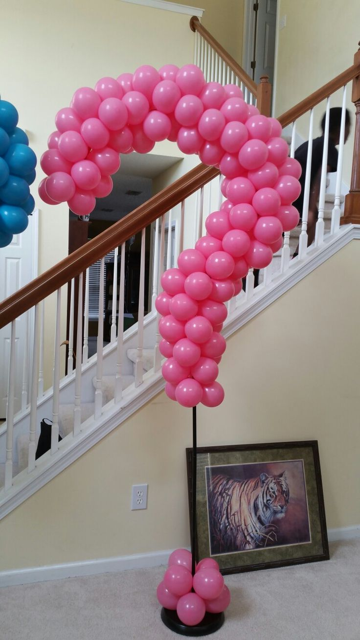 Gender reveal balloon column by events by carlisa