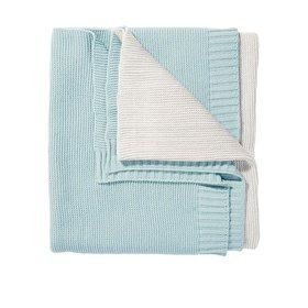 Tricolour Throw - Blue & White