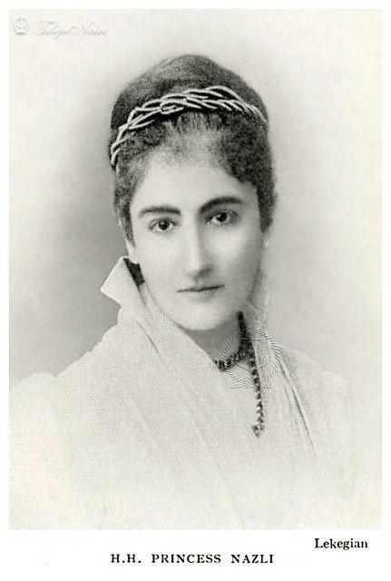 HH Princess Nazli Fadel In 1890's (1853-1913), Granddaughter Of Ibrahim Pasha.