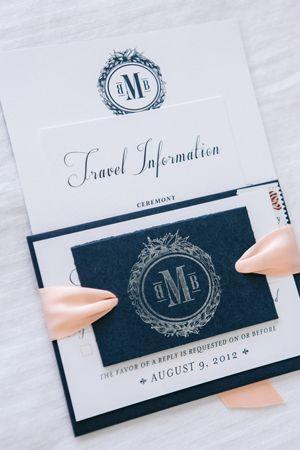 monogrammed invitation suite | Justin DeMutiis #wedding