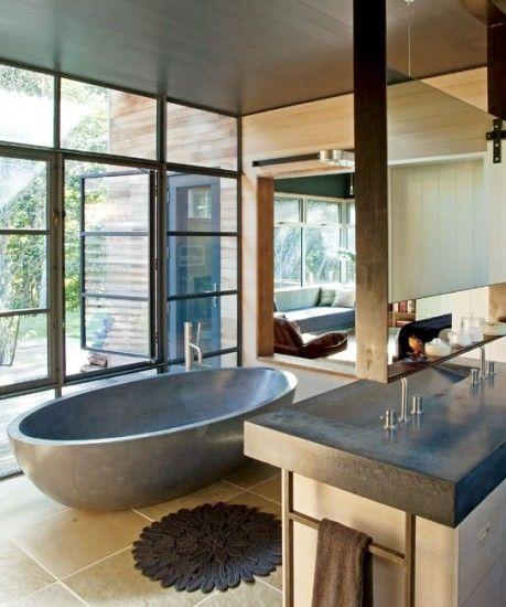Stunningly modern bathroom!