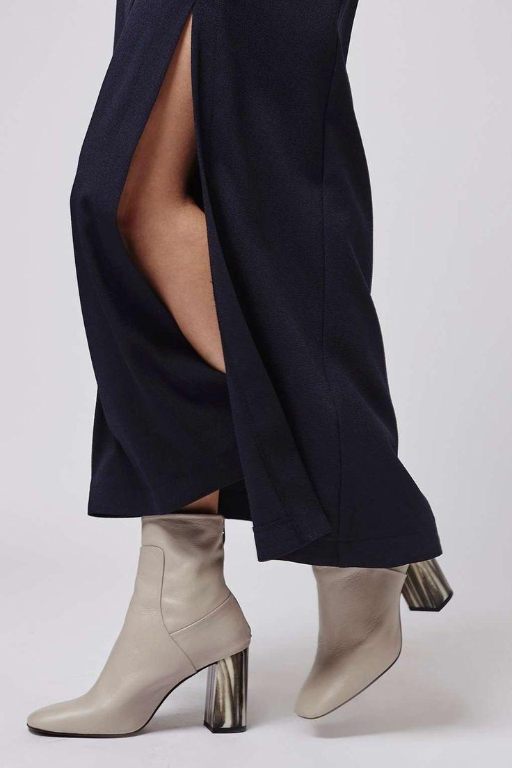 Winter Split Side Maxi Skirt