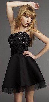 Juveniles vestidos de fiesta color negro  http://vestidoparafiesta.com/juveniles-vestidos-de-fiesta-color-negro/
