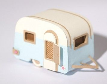 DIY Little Sweet CamperVintage Trailers, Paper, Crafts Projects, Jacqueline Wagner, Crafts Tutorials, Minis Caravan, Miniatures Caravan, Happy Campers, Airstream Trailers