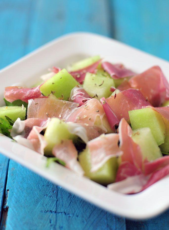 Zomerse salade met galia meloen