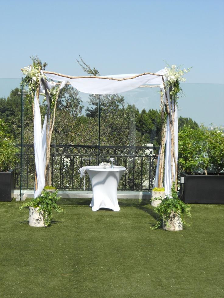 arche fleurie et voiles pour c r monie laique votre. Black Bedroom Furniture Sets. Home Design Ideas