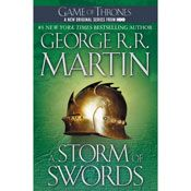I finished listening to A Storm of Swords: A Song of Ice and Fire, Book 3 (Unabridged) by George R. R. Martin, narrated by Roy Dotrice on my Audible app.  Try Audible and get it free.