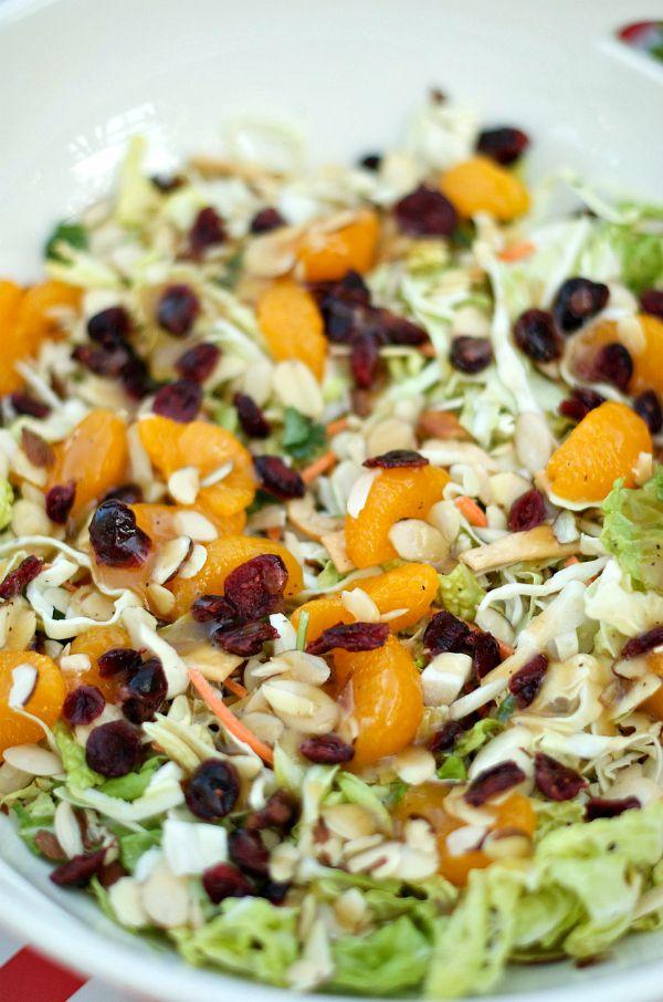 Orange Cranberry Summer Slaw Salad | ReluctantEntertainer