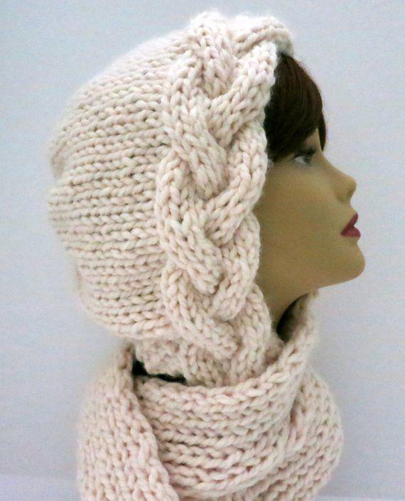 Knitting Pattern Hat, Braid Bonnet | Knitting | Croché, Gorro tejido ...