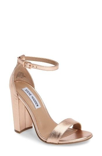 Free shipping and returns on Steve Madden Carrson Sandal (Women) at Nordstrom.com. A minimalist ankle-strap sandal is crafted in lush suede and set on a chunky heel.