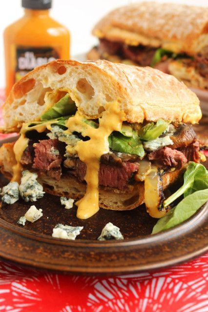 Grilled Beef Tenderloin Sandwich with Spicy Steakhouse Aioli #beef #spicy #sandwich