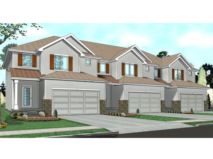 49 best images about multi family house plans on pinterest for Multi family home designs