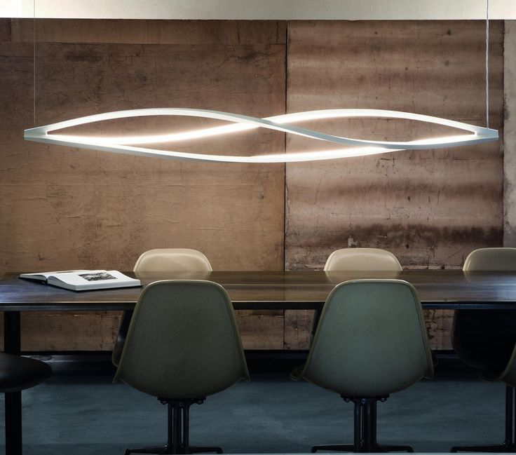 IN THE WIND PENDANT HORIZONTAL Floor and pendant lamp for a warm and widespread LED lighting. The body is manufactured through a technology of torsion and misalignment of the aluminium extruded bar, expressly studied by Nemo (patent pending). It allows a 360° LED lighting. Heads are in die-casted aluminium. Diffusers are in opal metacrylate. Heads, base and arms are painted in matt white or black. For the floor version, switch and dimmer on the cable.