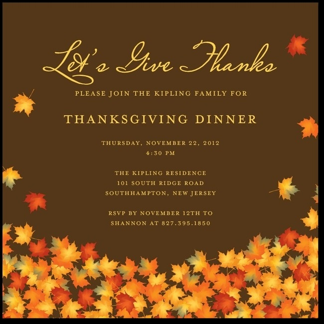 35 best Thanksgiving invitations images – Thanksgiving Party Invitation Wording