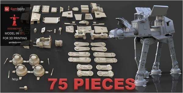23 Super Cool Star Wars Items From The 3d Printer 3d Make 0 13