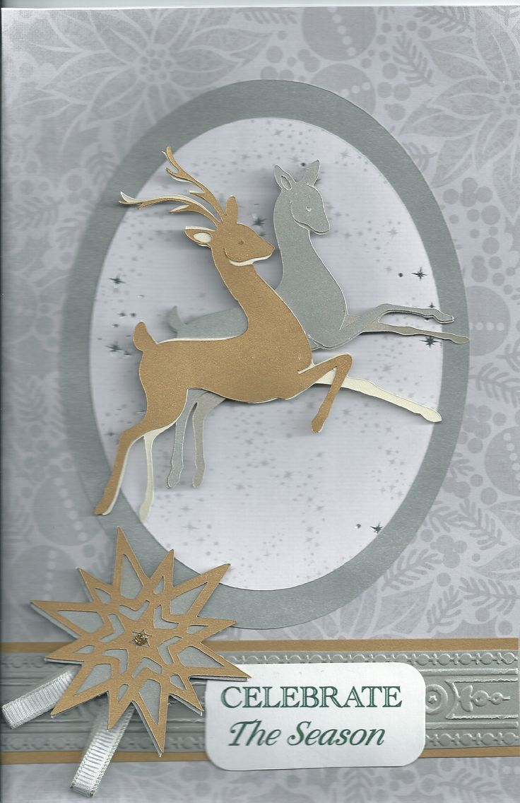 Christmas Card made with Anna Griffin Winter Wonderland cartridge for the Cricut