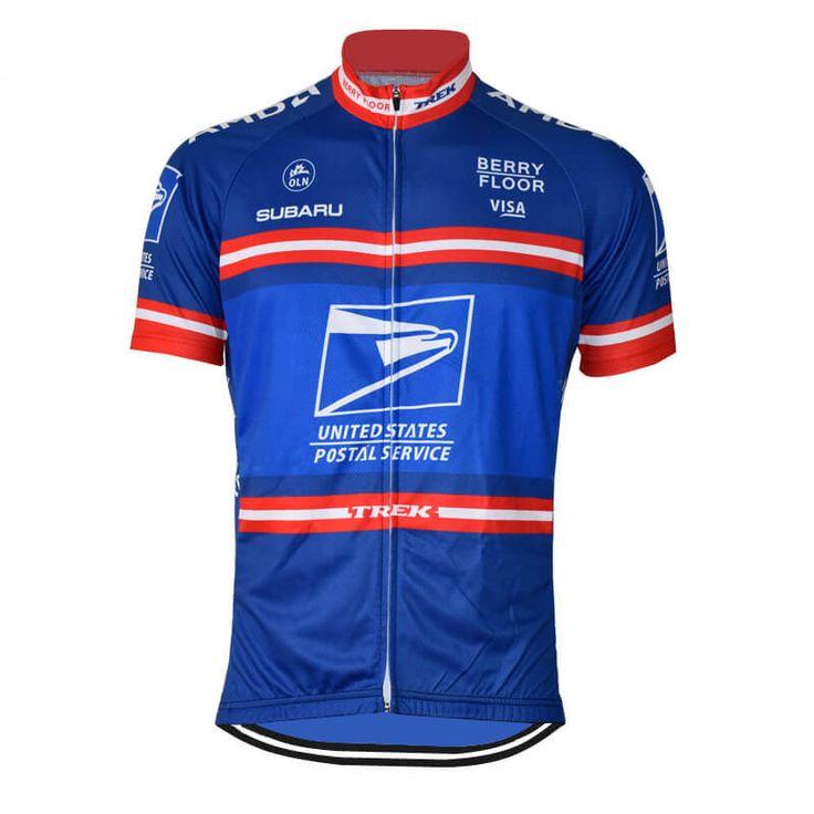 Retro Team U.S. Postal Service Pro Cycling Jersey   Freestylecycling.com