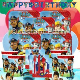 Paw Patrol Party Supplies found at www.instantpartypacks.com.au