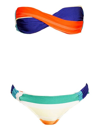 love the bright colorsBandeau Bikini, Moma Bandeau, Bathing Suits, Scoop Bottom, Bandeau Tops, Colors Block, Bath Suits, Swimming Suits, Coconut Water