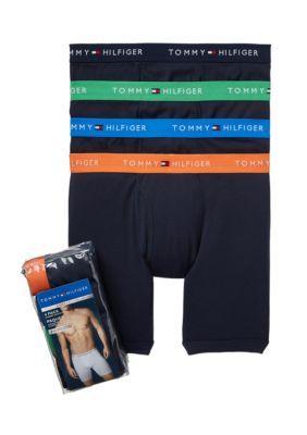 Tommy Hilfiger Men's Cotton Boxer Brief 4-Pack - Dark Navy - Xl