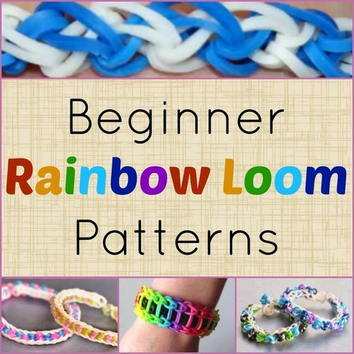 7 Beginner Rainbow Loom Patterns + Video Tutorials | AllFreeKidsCrafts.com