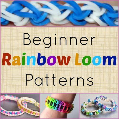 7 Beginner Rainbow Loom Patterns + Video Tutorials | AllFreeKidsCrafts.com