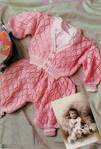 Růžové kalhotky a svetřík | RUČNÍ PLETENÍ - NÁVODY ZDARMA