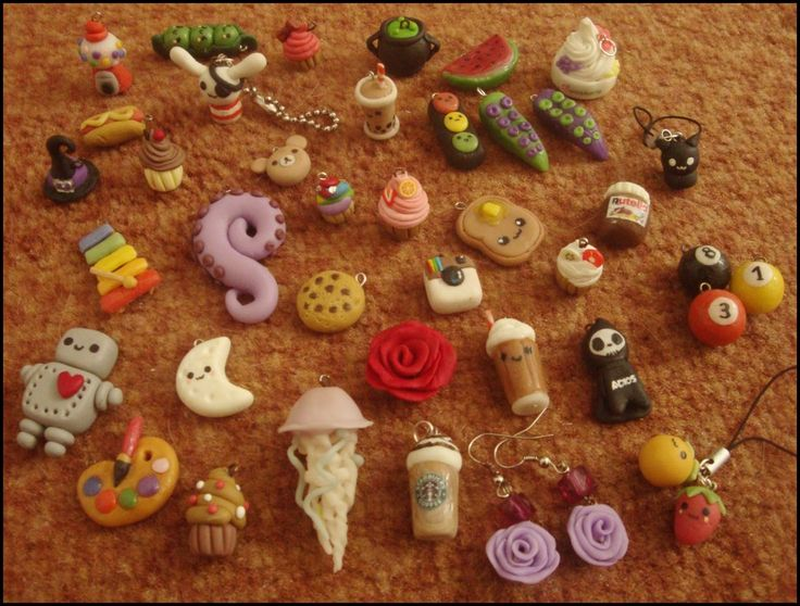 Polymer clay charms by VelvetNights.deviantart.com on @deviantART