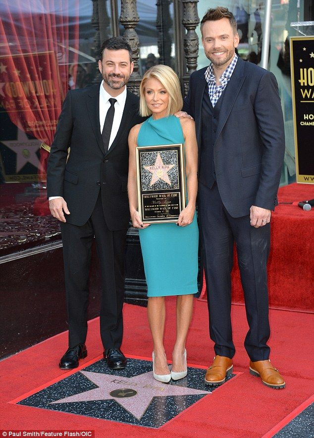 ♥♥♥Kelly Ripa♥♥♥ Famous friends: Kelly was also supported by pals Jimmy Kimmel (L) and Joel McHale...