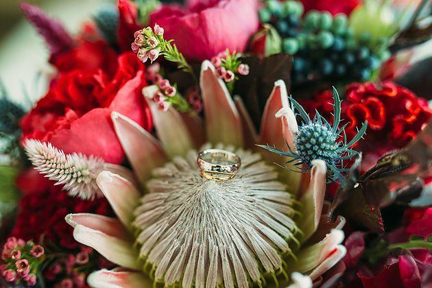 Native bridal bouquet   Naomi Rose Floral Design   King protea Bouquet