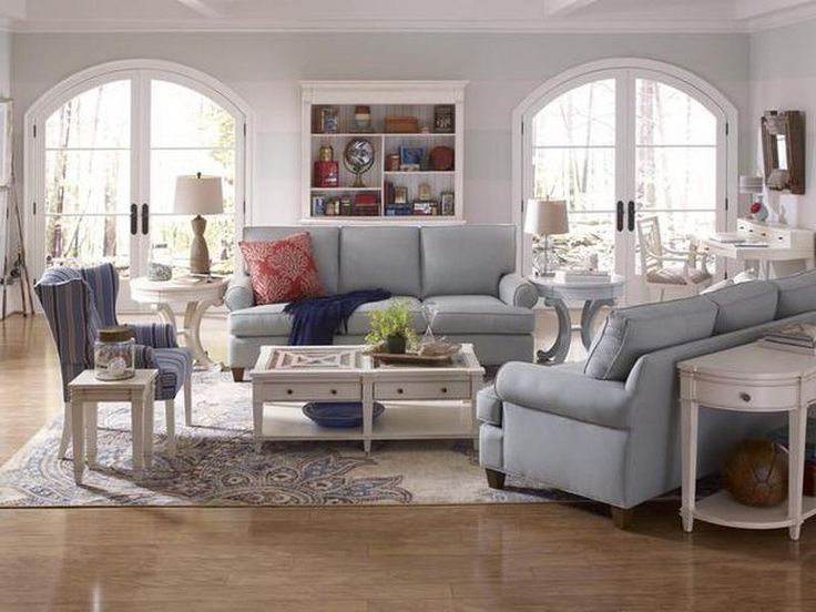 Living Room Cottage Style Blue
