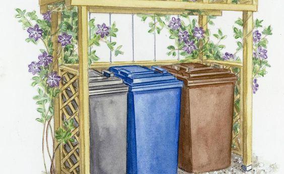 Jeder hat sie im Vorgarten stehen, aber ansehnlich findet sie niemand: Mülltonnen. Wir zeigen, wie Sie die Abfallbehälter dezent verstecken. Ob aus Holz, Glas oder Recyclingmaterialien, ob gekauft oder selbst gebaut – beim passenden Sichtschutz sind Ihren Gestaltungsideen keine Grenzen gesetzt.
